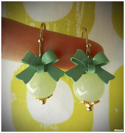 Aqua jade oorhangers