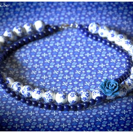 Delfts blauwe roosjes