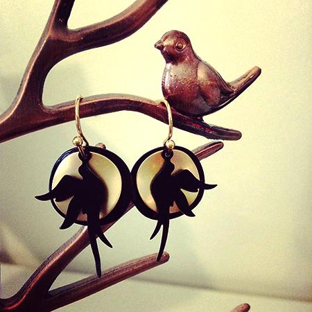 Mat gouden vogels