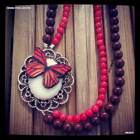 Oranje vlindermedaillon