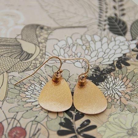 Rose gouden zanddruppels met strass steentje