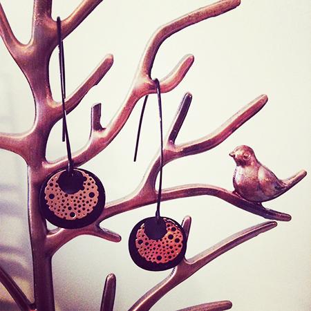 Rose-zwarte schijfjes