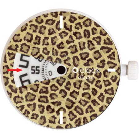o clock digital leopard