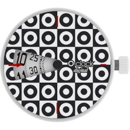 o clock digital optical circles