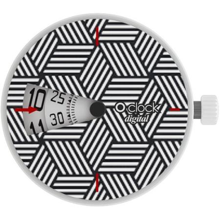 o clock digital optical hexigons