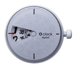 o clock digital light silver