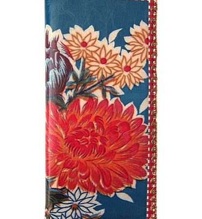 Mlavi grote portemonnee Mexinca rode bloem vegan leather