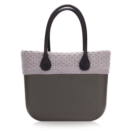 O'bag wool trim grey