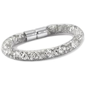 armband met zilveren kristal facetten