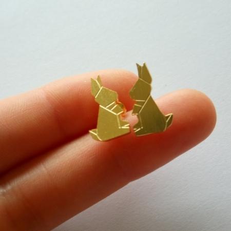 konijnen stekertjes goud