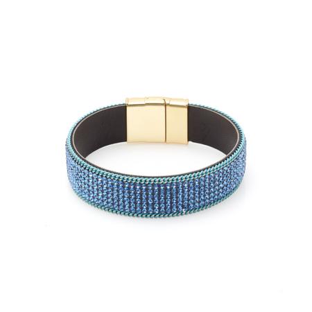 Blauwe strass armband biba