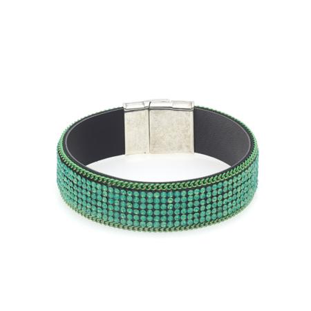 Groene strass armband Biba