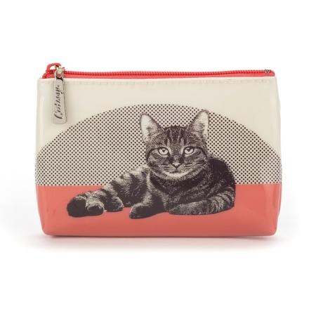klein tasje etching cat 1
