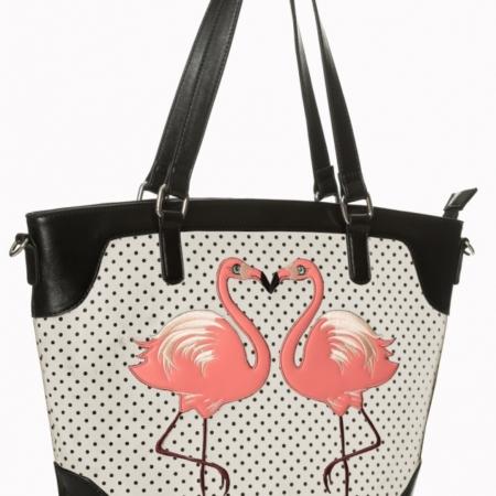 Flamingo met bolletjes handtas