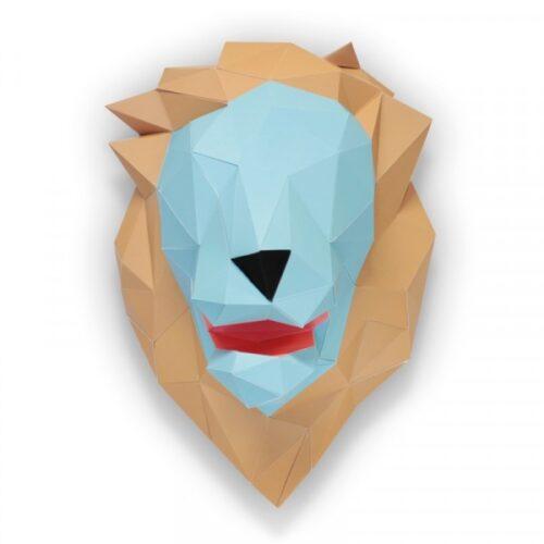 Leeuwenkop in papier 1