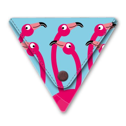Papieren driehoek portemonneetje flamingo party