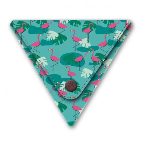 Papieren driehoek portemonneetje tropical heat