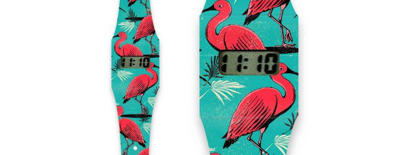 neclex papieren horloge kraanvogel