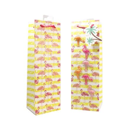 Kadoverpakking fles met glas markeerders