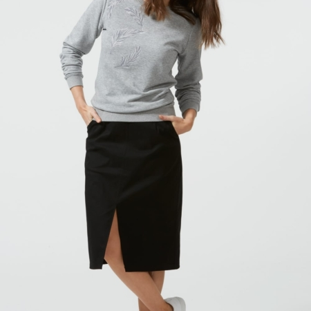 Bianca split front midi skirt1