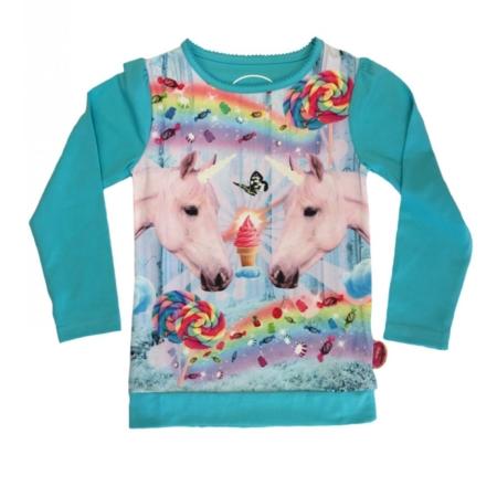T-shirt met eenhoorns