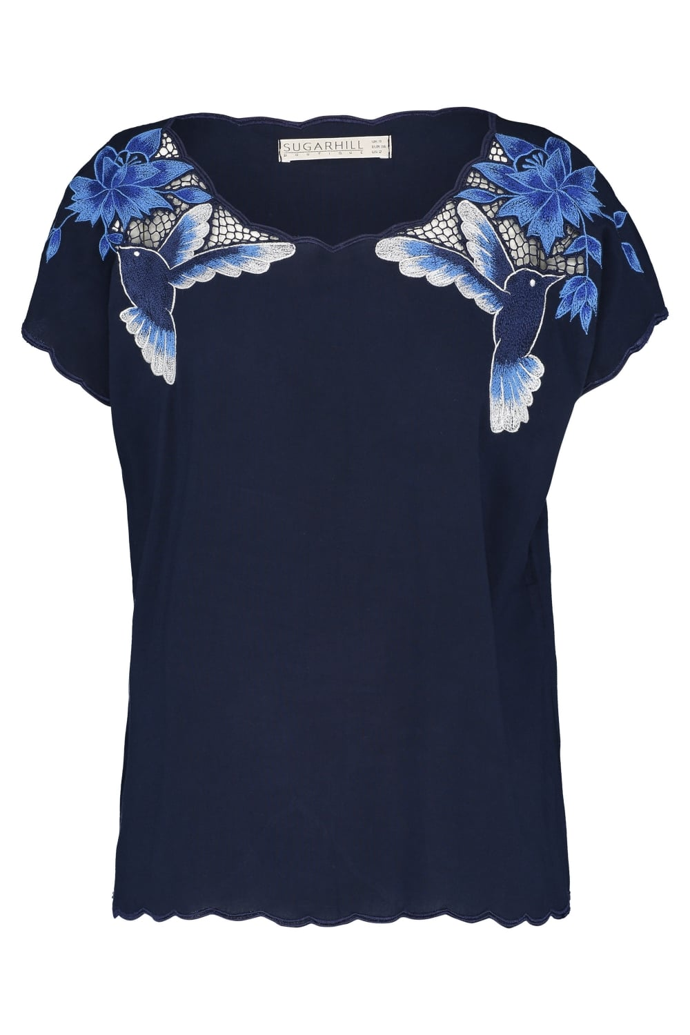 hummingbird cutwork tee top1