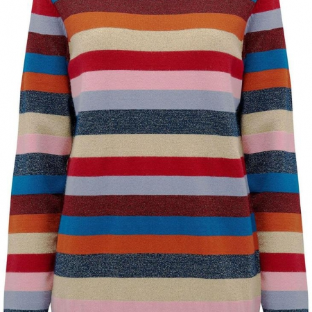 Poppy Stripe Lurex Sweater Multi
