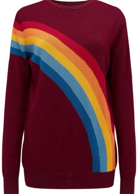 Rita vintage rainbow sweater