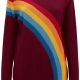 Rita vintage rainbow sweater