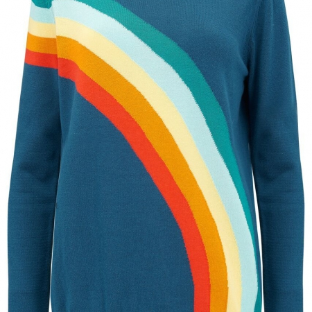 Rita vintage rainbow sweater teal