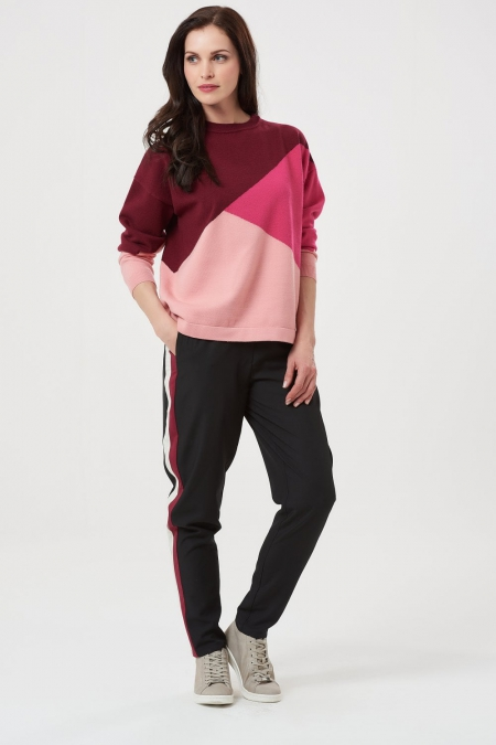 Roxy Pinks Colour Block Boxy Sweater