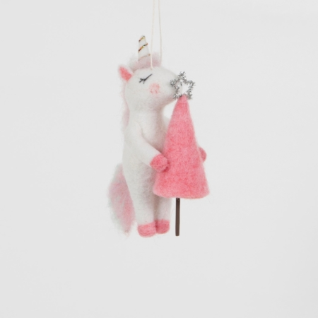 Eenhoorn met roze boompje 2