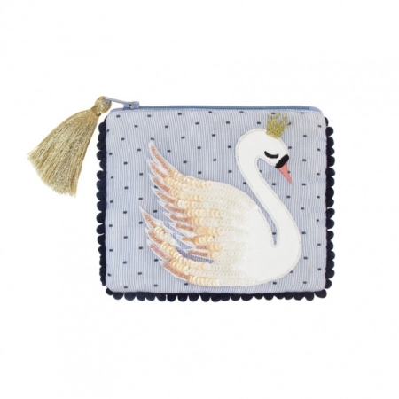 Tasje Secret garden swan purse