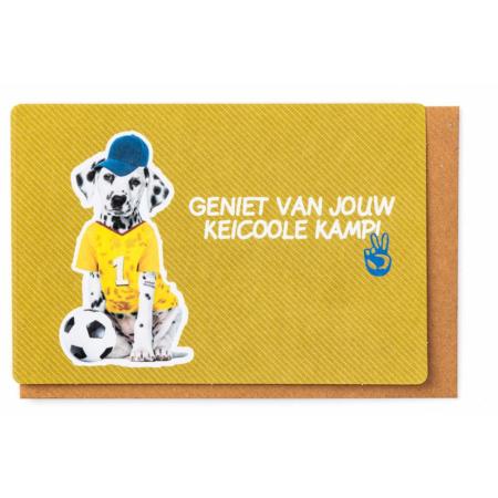 Kamkaartje Geniet van jouw keicoole kamp labrador