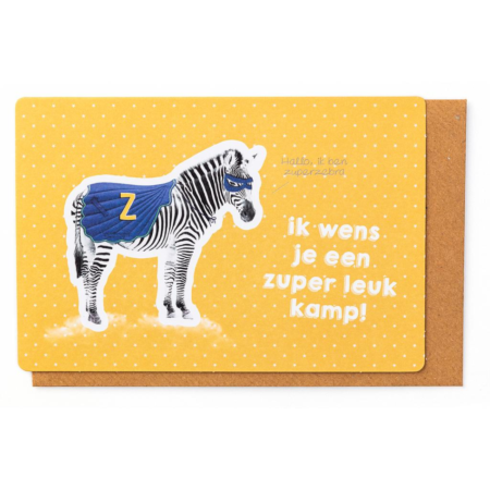Kampkaartje Ik wens je een Zuper leuk kamp!