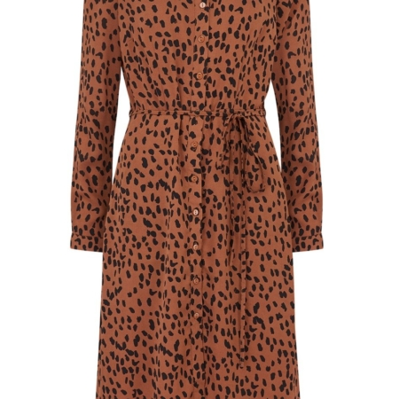 Britney Animal Spot Shirt Dress2