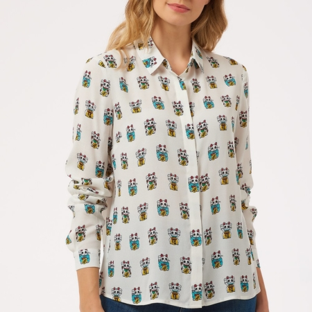 Catrina Lucky Cat Shirt3