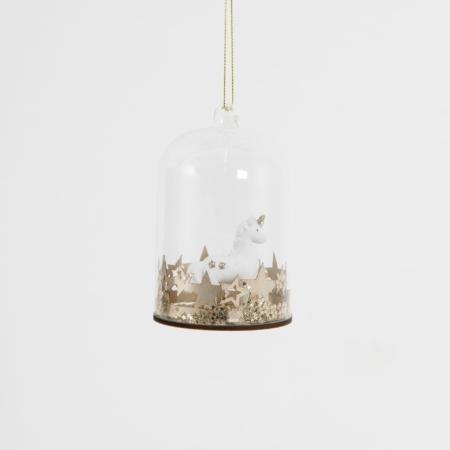Glazen flesje met eenhoorn