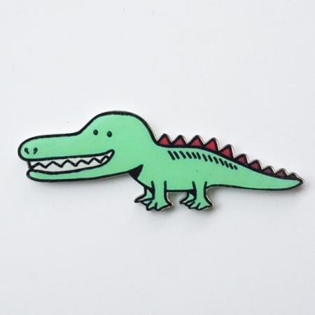 broche krokodil
