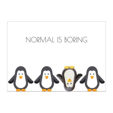 postkaart-met-broche-enveloppe-pinguin
