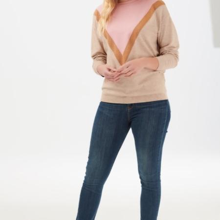 lally lurex chevron sweater1