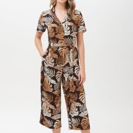Pandora Cocoa Palm Batik jumpsuit