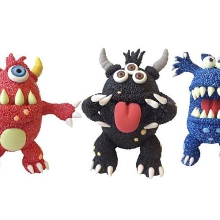 foam clay - funny monstersA