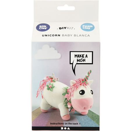 foam clay - unicorn - pink