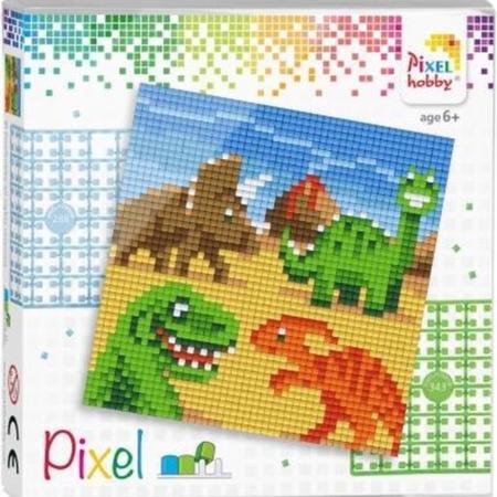 pixel set dino's