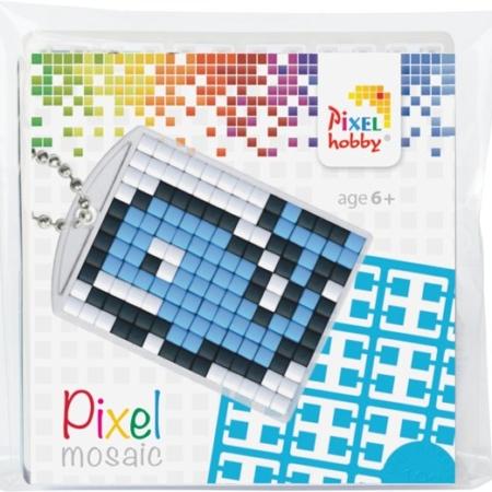 pixel hobby medaillon sleutelhanger startset - walvis