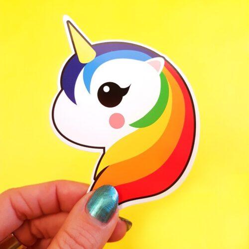 Sticker eenhoorn 1