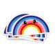 Sticker regenboog vol blauw