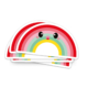 Sticker regenboog vol rood