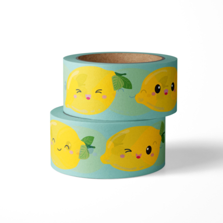 Washi tape studio inktvis citroen
